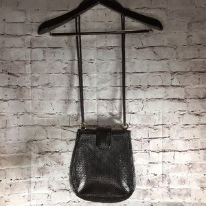 Dark brown woven bag